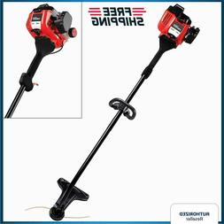 """Garden String Trimmer 16"""" Gas Weed Eater Lawn Grass Curved S"""