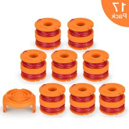 17 Pack Replacement Spool Line String Trimmer Weed Eater W/C