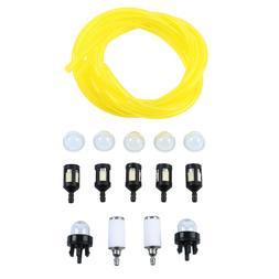 17pcs Fuel Line Hoses+Primer Bulbs+Fuel Filters Poulan Weede