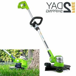 24V Lithium Battery Powered String Trimmer And Edger Cordles