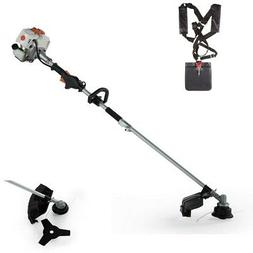 26CC 2 Cycle 2 in 1 Straight Shaft Grass Trimmer with Brush