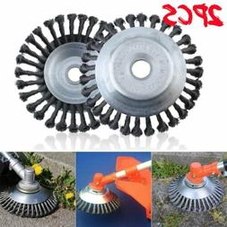 2PCS Weed Brush Steel Wire Grout For Brushcutter Replacement