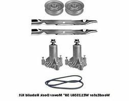 """38"""" Mower Deck Rebuild Kit Fits Weedeater WE12538J Blades Sp"""