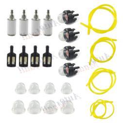 4 Sizes Tygon Fuel Filter Line Primer Bulb Kit Set For Poula