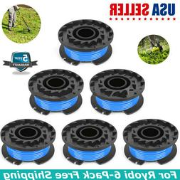 6x Auto Feed Line String Trimmer Weed Eater Spool kit For Ry