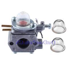 Carburetor & 2 primer bulb for 753-06190 MTD Weedeater Troy