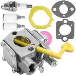 Carburetor Fuel Line Filter Spark Plug for Poulan Weed Eater