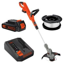Cordless String Trimmer Edger Weed Eater Whacker Battery Pow