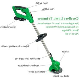 Electric Cordless Lawn Trimmer Edger Weed Eater w/ 6 Blades