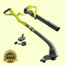 Electric Weed Eater String Trimmer Edger Blower Combo Kit Ba