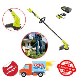 Electric Weed Eater Wacker Cordless String Trimmer Edger Bat