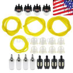 Fuel Filter Line Hose Primer Bulb Kit For Poulan Weed Eater