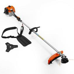2-in-1 Straight Shaft Trimmer Gas Weed Eater Professional 26