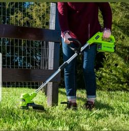 Grass Trimmer 12 inch String Cordless 40V Weed Eater Lawn Ed