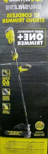 """RYOBI 18v ONE+ CORDLESS LITHIUM 13"""" IN STRING TRIMMER WEED E"""