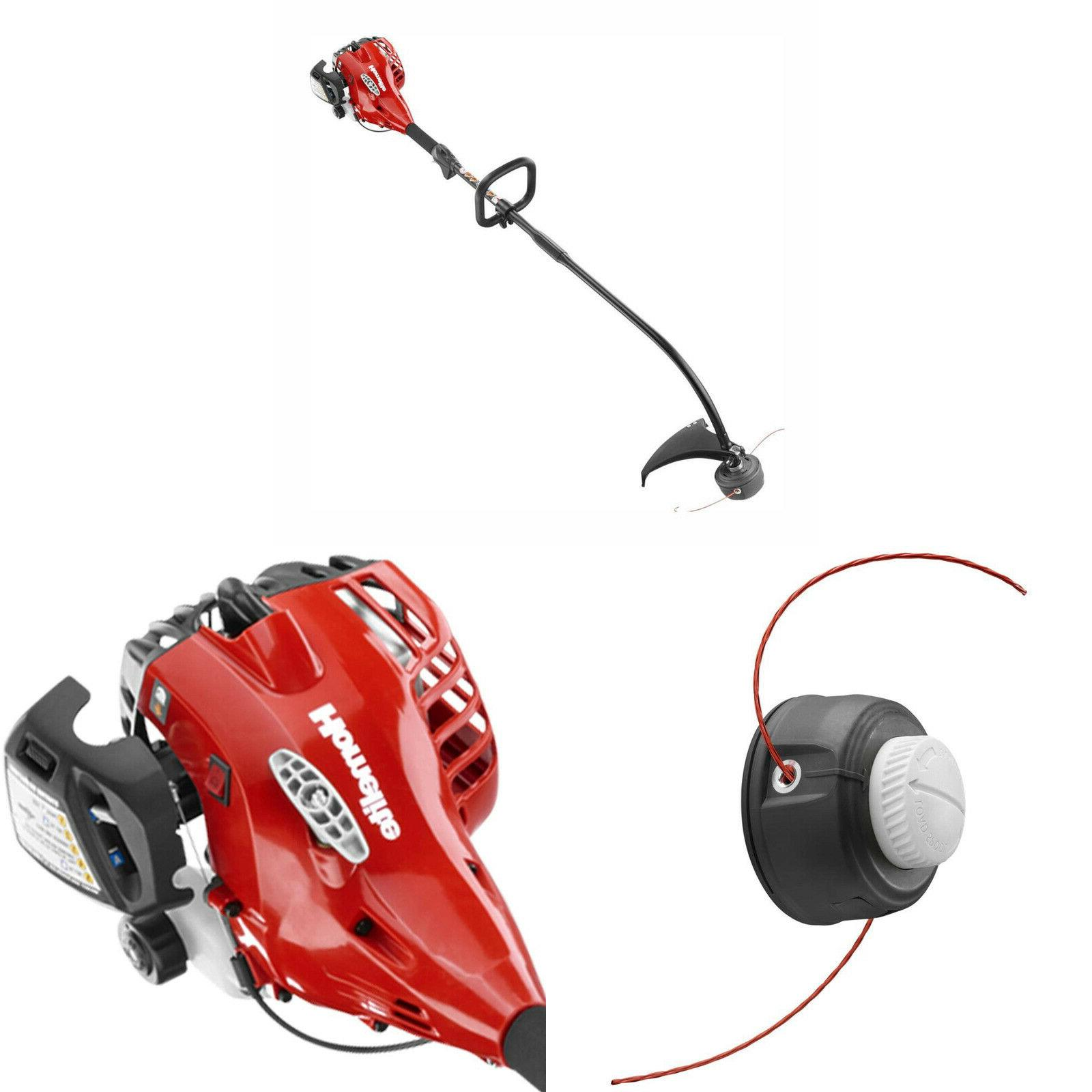 2 cycle curved shaft gas string trimmer