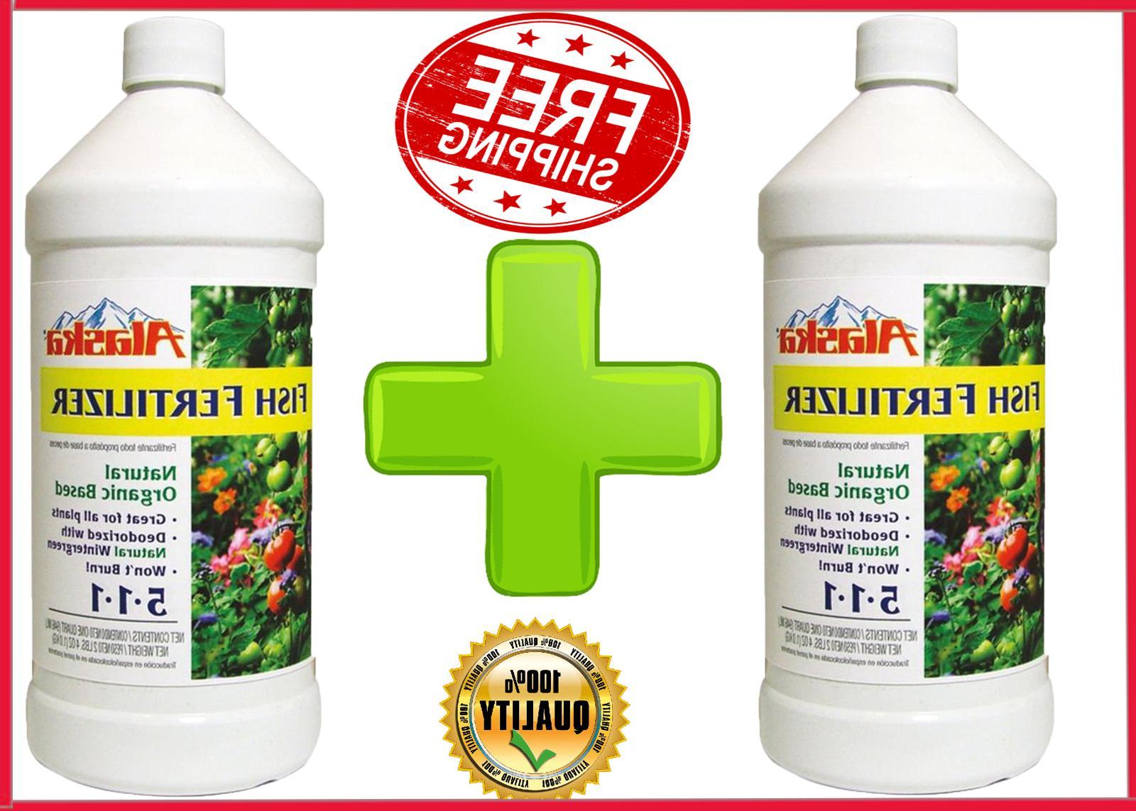 2-Pack Alaska 32 oz 5-1-1 Liquid Fish Fertilizer Organic Pla