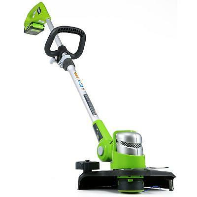 24V Electric Trimmer Weed Lawn Wacker Edger Grass Yard