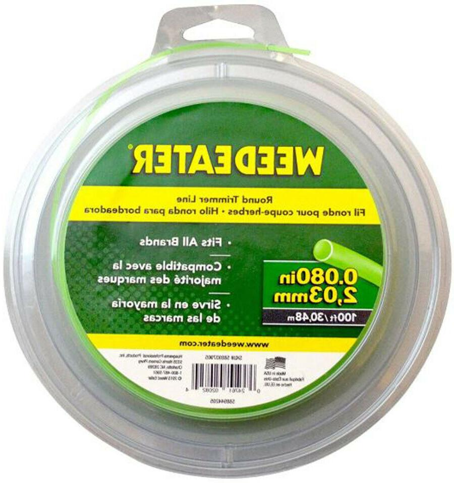 "Weed Eater 588937905 .080"" x 100-Feet Round String Trimmer L"