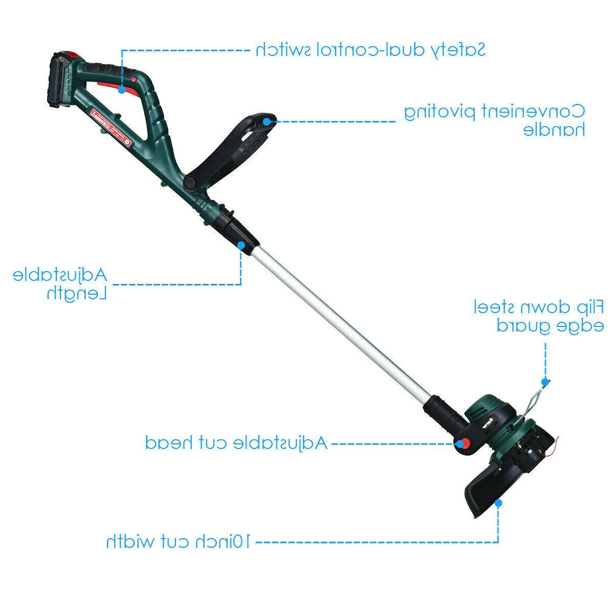Cordless Weed Eater Grass Edger Battery 2.0