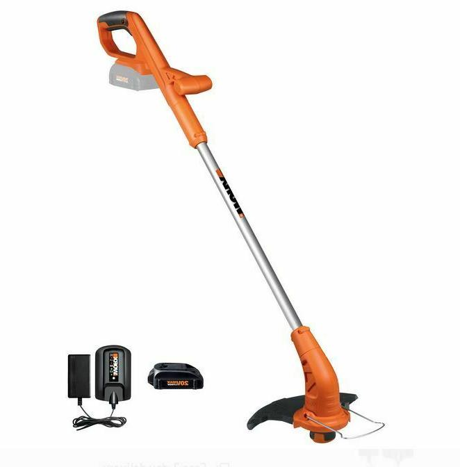 cordless string trimmer and edger yard work