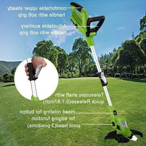 Cordless String Edger with Grass Cutter