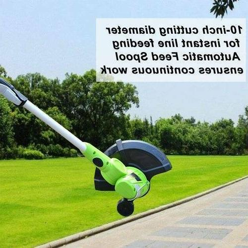 Cordless String Trimmer Edger with Battery Grass Cutter Weed