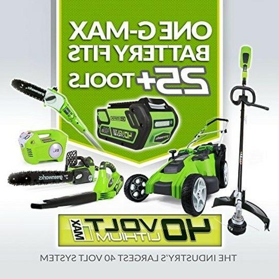 Cordless String Weed Eater Grass 40V Tool Works