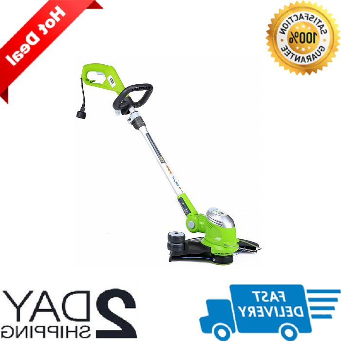 greenworks corded 15 electric trimmer edger grass