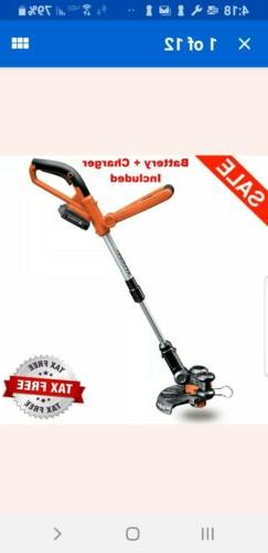 "Worx 10"" 20V Li-ion Cordless Powerful Grass Weeds Lawn Trimm"