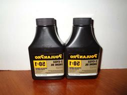 Lot 2 Poulan Pro Weed Eater Easy Mix 50:1 Engine Oil 2-Strok