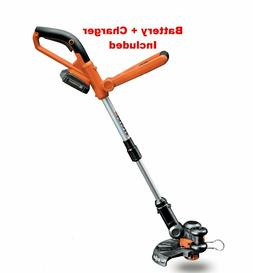 "Powerful Grass Trimmer 10"" 20V Li-ion Battery Cordless Lawn"