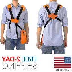 Trimmer Double Shoulder Strap Universal Harness Weed Eater W