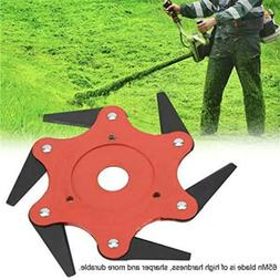 Trimmer Head with 6 Steel Blades Pieces Lawn Mower Grass Wee
