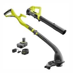 Weed Eater String Trimmer Edger Blower Combo Kit 1 Battery a